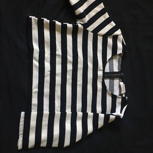 Everly Formal Black & White Top